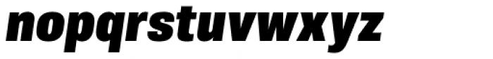 Molde Semi Condensed Heavy Italic Font LOWERCASE