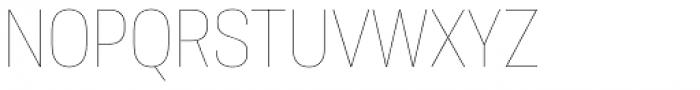 Molde Semi Condensed Thin Font UPPERCASE