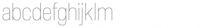 Molde Semi Condensed Thin Font LOWERCASE