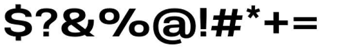 Molde Semi Expanded Semibold Font OTHER CHARS