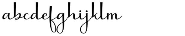Molianty Regular Font LOWERCASE