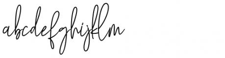 Mollaroid Signature Regular Font LOWERCASE