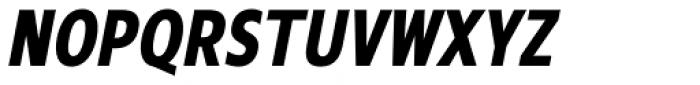 Mollen Bold Condensed Italic Font UPPERCASE