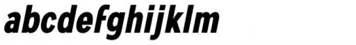 Mollen Bold Condensed Italic Font LOWERCASE