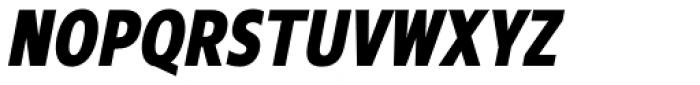 Mollen Extra Bold Condensed Italic Font UPPERCASE