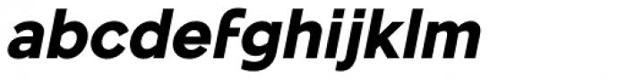 Mollen Extra Bold Italic Font LOWERCASE