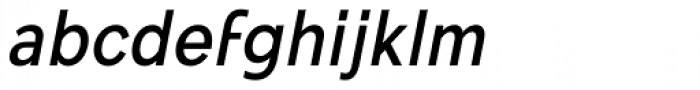 Mollen Medium Narrow Italic Font LOWERCASE