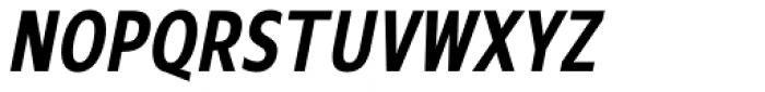 Mollen Semi Bold Condensed Italic Font UPPERCASE