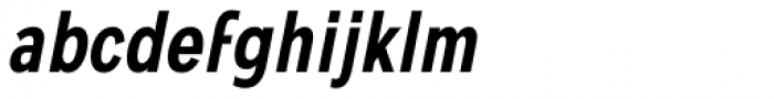 Mollen Semi Bold Condensed Italic Font LOWERCASE