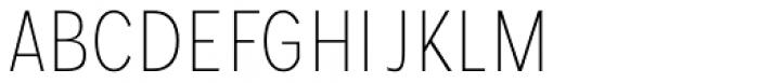 Mollen Thin Condensed Font UPPERCASE