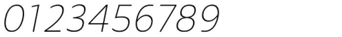 Mollen Thin Narrow Italic Font OTHER CHARS