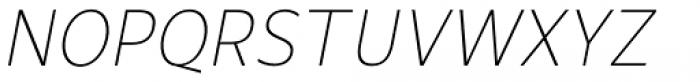 Mollen Thin Narrow Italic Font UPPERCASE