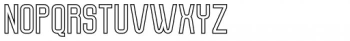 Molor Outline Font UPPERCASE