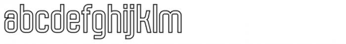 Molor Outline Font LOWERCASE