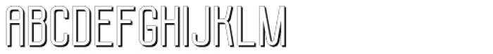 Molor Shadow Font UPPERCASE