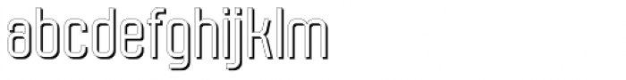 Molor Shadow Font LOWERCASE
