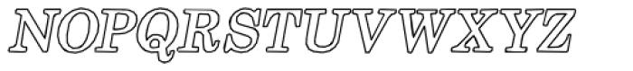 Momentum Outline Bold Italic Font UPPERCASE