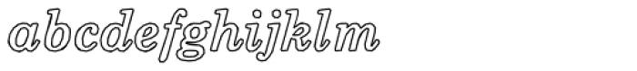 Momentum Outline Bold Italic Font LOWERCASE