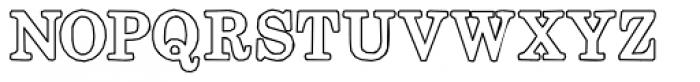 Momentum Outline Bold Font UPPERCASE