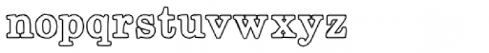 Momentum Outline Bold Font LOWERCASE