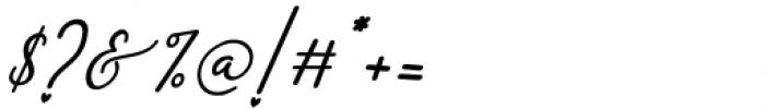 Monallesia Script Italic Font OTHER CHARS