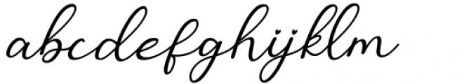 Monallesia Script Italic Font LOWERCASE
