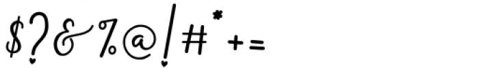 Monallesia Script Regular Font OTHER CHARS