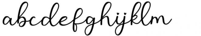 Monallesia Script Regular Font LOWERCASE
