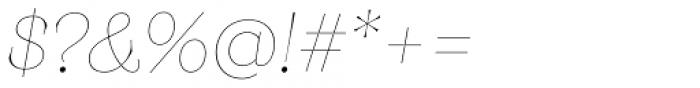 Monckeberg Thin Italic Font OTHER CHARS