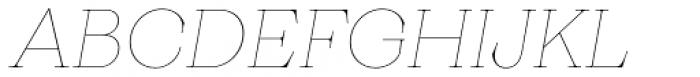 Monckeberg Thin Italic Font UPPERCASE