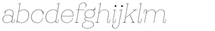 Monckeberg Thin Italic Font LOWERCASE
