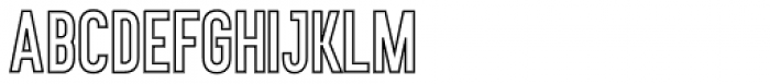 Monday Vacation Sans Serif Outline Font UPPERCASE