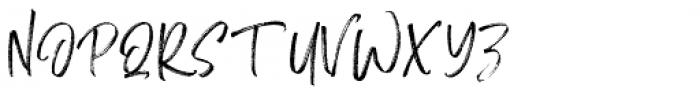 Monday Vacation Script Font UPPERCASE