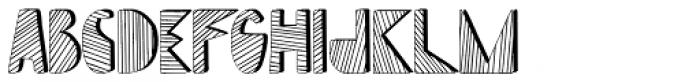 Mondiale Block Striped Font UPPERCASE