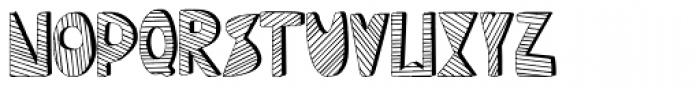 Mondiale Block Striped Font LOWERCASE