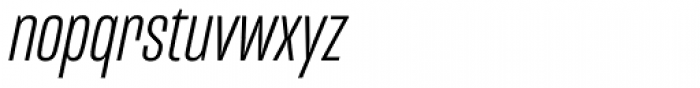 Mongoose Light Italic Font LOWERCASE