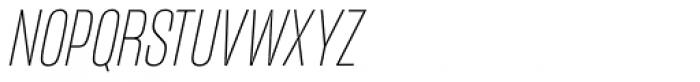Mongoose Thin Italic Font UPPERCASE