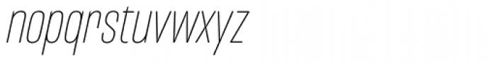 Mongoose Thin Italic Font LOWERCASE