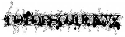 Monkey Messed Gutenberg Caps Font UPPERCASE
