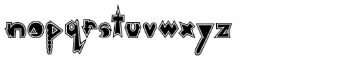 Monkeywrench Stuffed Font LOWERCASE