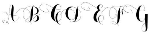 Monmica Fancy Font UPPERCASE
