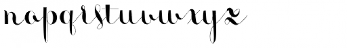 Monmica Fancy Font LOWERCASE