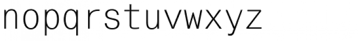 Mono Condensed Font LOWERCASE