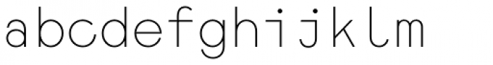 Monoela Thin Font LOWERCASE