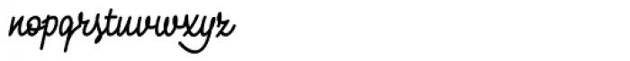 Monolina Bold Font LOWERCASE