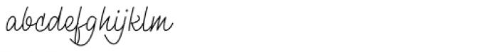 Monolina Regular Font LOWERCASE