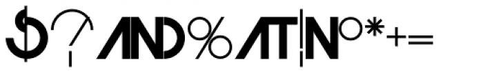 Monolite Font OTHER CHARS