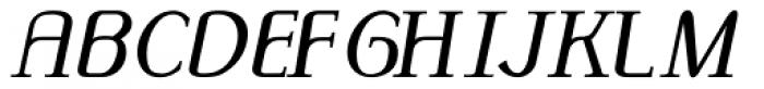 Monolith Roman Normal Italic Font UPPERCASE