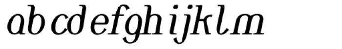 Monolith Roman Normal Italic Font LOWERCASE