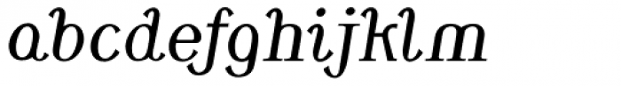 Monolith Roman Swash Italic Font LOWERCASE